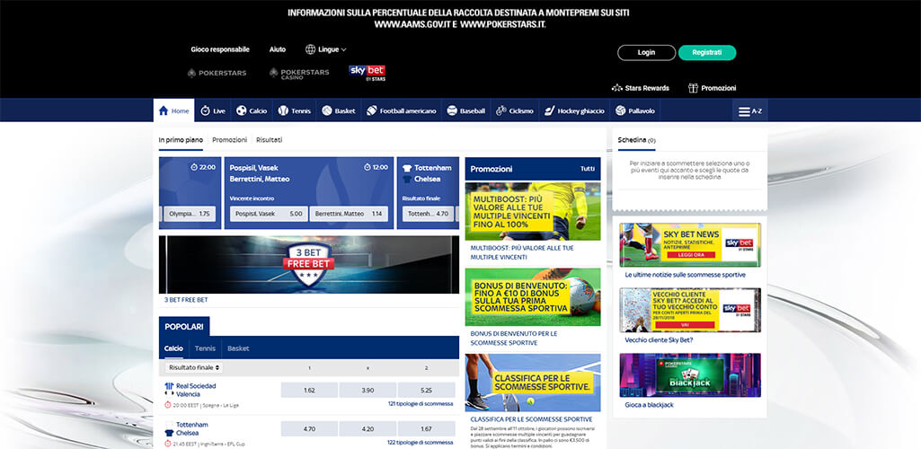 SkyBet scommesse sportive